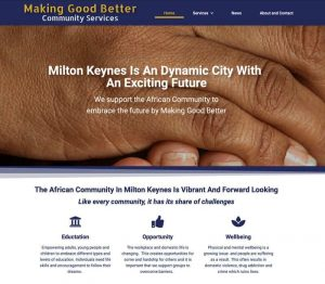 Charity website design Milton Keynes, starter website